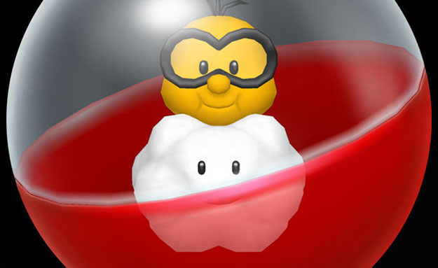 Lakitu looks an awful lot like Jerry Holkins in this image. UNNERVING! UNCANNY!